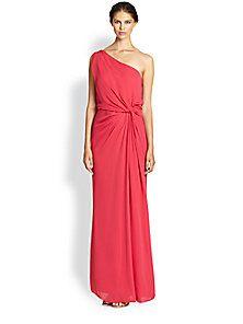 Halston Heritage - One-Shoulder Gown