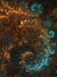 Refinement thrown to the wind by longan drink Fractal Images, Fractal Art, Computer Kunst, Scenery Photography, Copper Art, Fractal Design, Turquoise, Colour Schemes, Illustrations