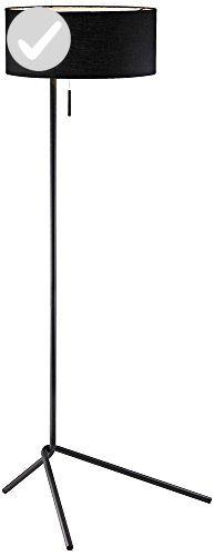 """Adesso 6191-01 Twixt 59"""" Floor Lamp, Black, Smart Outlet Compatible - Unique lighting lamps (*Amazon Partner-Link)"""