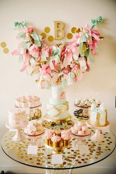 Dessert Table pink and gold love!!