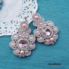 Rivoli Rose Soutache Earrings