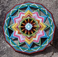 Ojos De Dios Mandala Yarn  Art