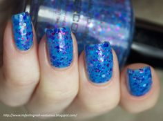 Watercolor Neon Blue Nail Polish by KBShimmer