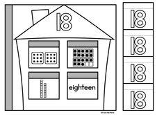 Number Flip Flap Houses