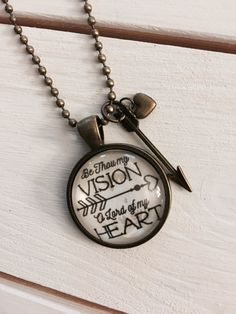 Be Thou My Vision Pendant Necklace with Charms by AllToHymn