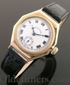A rare early 9ct gold octagonal vintage Rolex Oyster watch, 1928