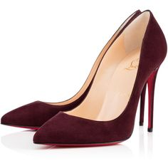 PIGALLE FOLLIES SUEDE, CRAMOISI, Suede, Women Shoes, Louboutin. (£425) ❤ liked on Polyvore featuring shoes, pumps, heels, christian louboutin, louboutin, heels & pumps, stiletto high heel shoes, heels stilettos, stilettos shoes and high heels stilettos