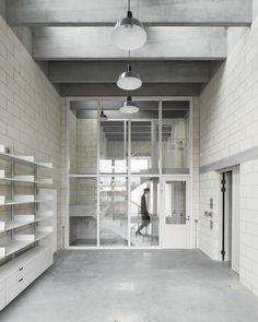 6a architects design an exquisite raw concrete studio for Juergen Teller
