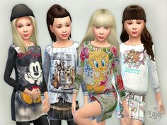 Designer Dresses Collection P16 by lillka at TSR via Sims 4 Updates
