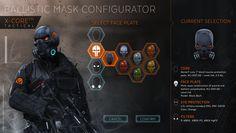 Ballistic Mask Configurator, Joern Zimmermann on ArtStation at https://www.artstation.com/artwork/e91Kw