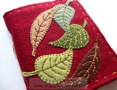 Autumn Leaves felt-covered journal
