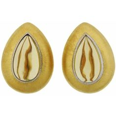 Preowned Buccellati Gold Citrine Teardrop Earrings ($7,000) ❤ liked on Polyvore featuring jewelry, earrings, multiple, 18k earrings, buccellati earrings, 18 karat gold earrings, gold jewellery and pre owned jewelry