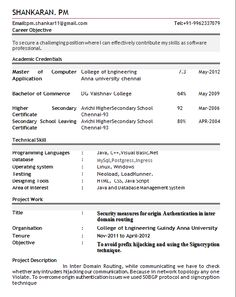 best resume format for freshers pdf niveresume pinterest
