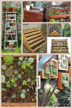 http://www.thegardenglove.com/go-vertical-diy-gardens-for-small-spaces/