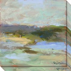 Add visual interest to your wall and bring the colors of the outdoors into your home with this fascinating abstract landscape. Features: Art Canvas Gallery Wrap is 1.5 inch deep to stand off the wall