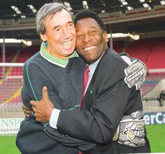 Gordon Banks & Pele