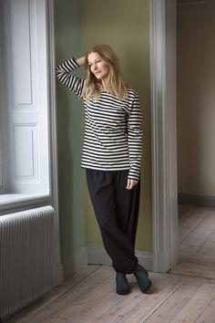 Gudrun Sjödéns Herbstkollektion 2014 - Das Basic-Streifenshirt aus Öko-Baumwolle ist in vielen bunten Farben erhältlich.
