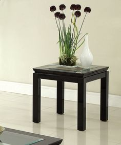 Black Gene Contemporary End Table