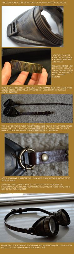 Steampunk Goggles Tutorial Pt2 by ShelbunnyCosplay on deviantART