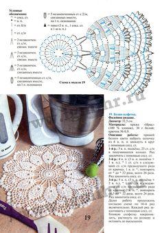 "Photo from album ""Валя Валентина on Yandex. Free Crochet Doily Patterns, Crochet Doily Diagram, Crotchet Patterns, Crochet Motifs, Crochet Mandala, Crochet Chart, Thread Crochet, Filet Crochet, Lace Knitting"