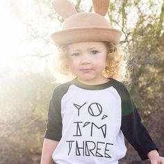 Tell the world you have 3 year old powers and you're not afraid to use them! Printed in Orlando, Florida, USA View Our Child Size Chart HERE Hipster Kids Clothes, Size Chart For Kids, Old Shirts, Trendy Kids, Three Year Olds, Birthday Shirts, American Apparel, Kids Outfits, Third Birthday