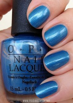 Dining Al Frisco ~ OPI blue nail polish Opi Blue Nail Polish, Grey Matte Nails, Cute Nail Polish, Blue Nails, Color Nails, Nail Polishes, Glitter French Tips, Glitter French Manicure, Black Nail Designs