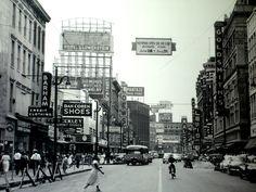 Main Street Memphis, 1940's.