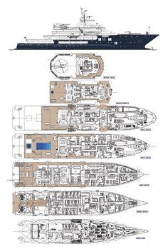 ULYSSES - All deck plans. Fraser Yachts