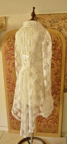 Lace Jacket Wedding Jacket Bridal Steampunk by twinBdesigns