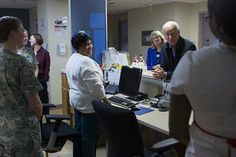 Vice President Joe Biden and his wife, Dr. Jill Biden, thank nurses during their Christmas Day visit to Walter Reed National Military Medica...