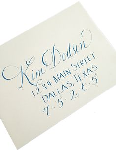 Calligraphy Addressed Envelopes - Google Search