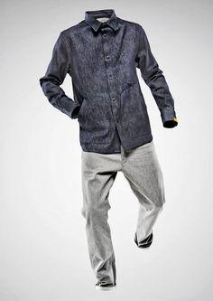 Grey jeans plus grey chambray shirt