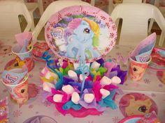 my little pony birthday My Little Pony Cumpleaños, Fiesta Little Pony, Vintage My Little Pony, Little Poney, Puppy Birthday Parties, My Little Pony Birthday Party, Birthday Party Themes, Twilight Pony, Unicorn Party