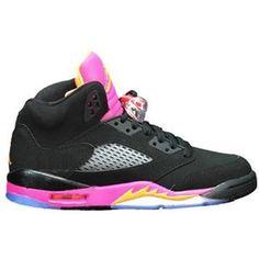 best service 6348c d168d asneakers4u.com  440892 067 Air Jordan 5 Retro Girls Black Bright Citrus  Fusion Pink