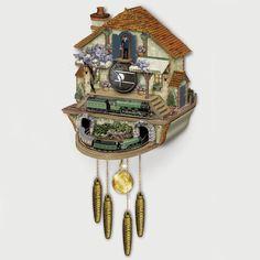 The Flying Scotsman Cuckoo Clock - Hammacher Schlemmer