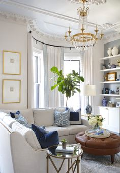 Project Reveal: A Historic South End Brownstone (elements of style) Formal Living Rooms, My Living Room, Home And Living, Living Room Furniture, Living Room Decor, Living Spaces, Cottage Living Rooms, Small Living, Apartment Living