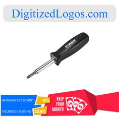 Get the 4 in 1 Screwdriver at only $4.52 instead of $5.02 plus more discount on volume purchase! Please visit Digitizedlogos.com for more information and inquiry.