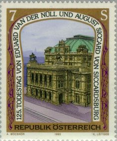 Stamp%3A%20State%20Opera%2C%20Vienna%20by%20Van%20der%20N%C3%BCll%20%26%20Siccard%20v%20Siccardsburg%20(Austria)%20(Visual%20Art)%20Mi%3AAT%202086%2CSn%3AAT%201589%2CYt%3AAT%201915%2CAFA%3AAT%201979%2CANK%3AAT%202117%20%23colnect%20%23collection%20%23stamps