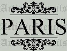 PARIS Scroll Brackets Stencil Lots of fun stencils on this sight!