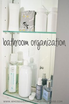 Lots of tips and ideas for organizing your bathroom!