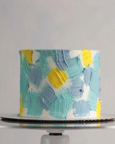 Buttercream Cake Decorating, Cake Decorating Designs, Birthday Cake Decorating, Cake Decorating Techniques, Cake Decorating Tutorials, Cake Designs, Pretty Birthday Cakes, Dessert Decoration, Cake Videos