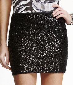 Be Seen Sequin Pencil Skirt | Christmas parties, Skirts and Glitter