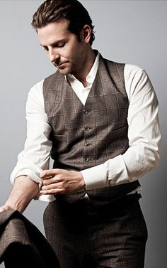 He can wear anything and look good! Bradley Cooper