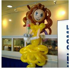 Belle balloon character #belle #princess #beauty and the beast #character #art #sculpture #twist