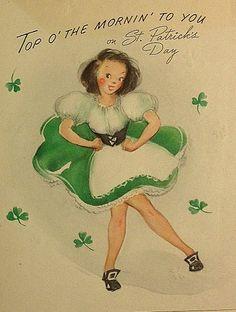 Vintage St Patricks Day Card