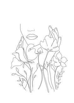 couch pillows 330240585180228475 - Minimal Line Art Summer Bouquet Throw Pillow by Nadja – Cover x with pillow insert – Indoor Pillow Source by ditatera Line Drawing, Drawing Sketches, Art Drawings, Daisy Drawing, Drawing Hair, Gesture Drawing, Drawing Faces, Drawing Tips, Art Abstrait Ligne