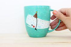 Walvis Mok Hand geschilderd Originele Illustratie door PIETenKEES