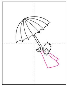 Learn how to draw a windy day by showing someone flying away on an umbrella. Make sure to add some flying hair too! Liquid Watercolor, Watercolor Paper, Projects For Kids, Art Projects, Little Girl Names, Sharpie Markers, Windy Day, Stock Art, Learn To Draw