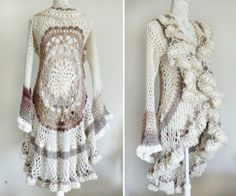 Crochet Jacket Lots Of Gorgeous Free Patterns | The WHOot                                                                                                                                                                                 More