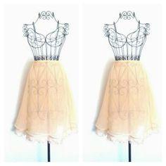 Vintage Sheer Skirt // Dirty Dancing Peach by RoryLaRueVintage, $22.00